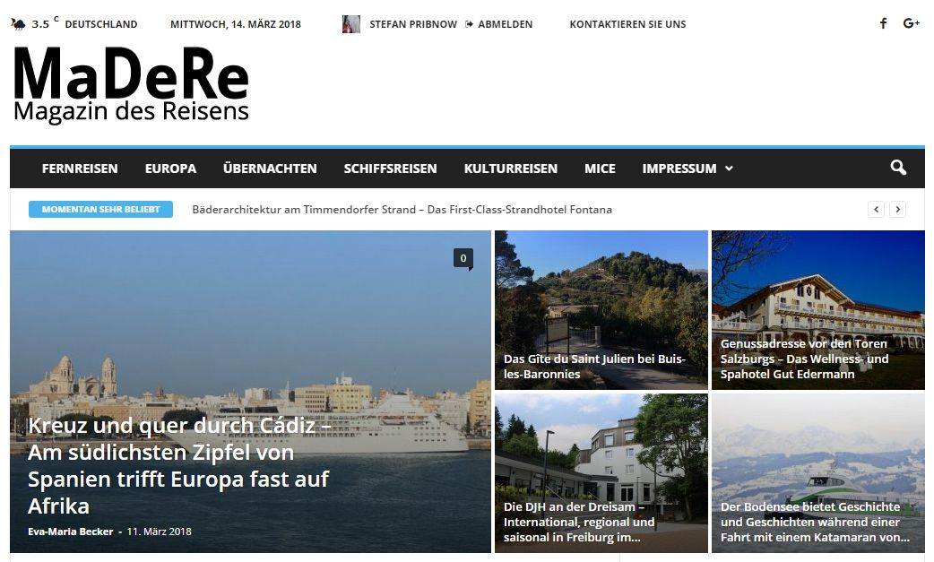 MaDeRe - Magazin des Reisens